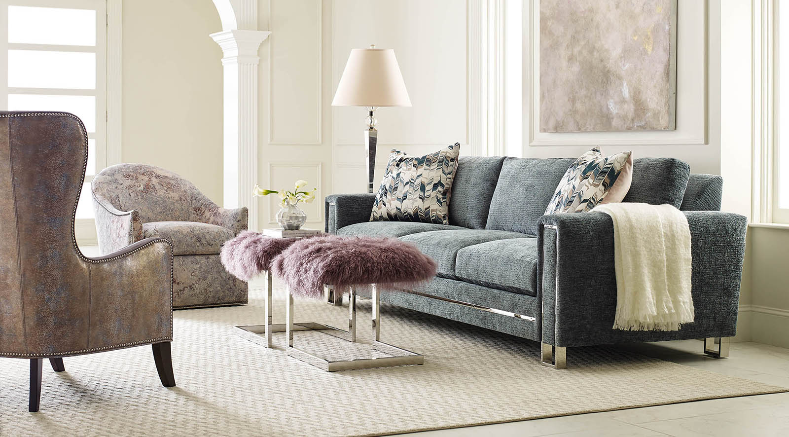 Finn Serene Living Room by Massoud Furniture