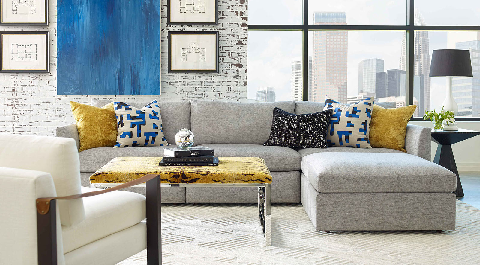 Epic Jetsetter Sectional by Massoud Furniture