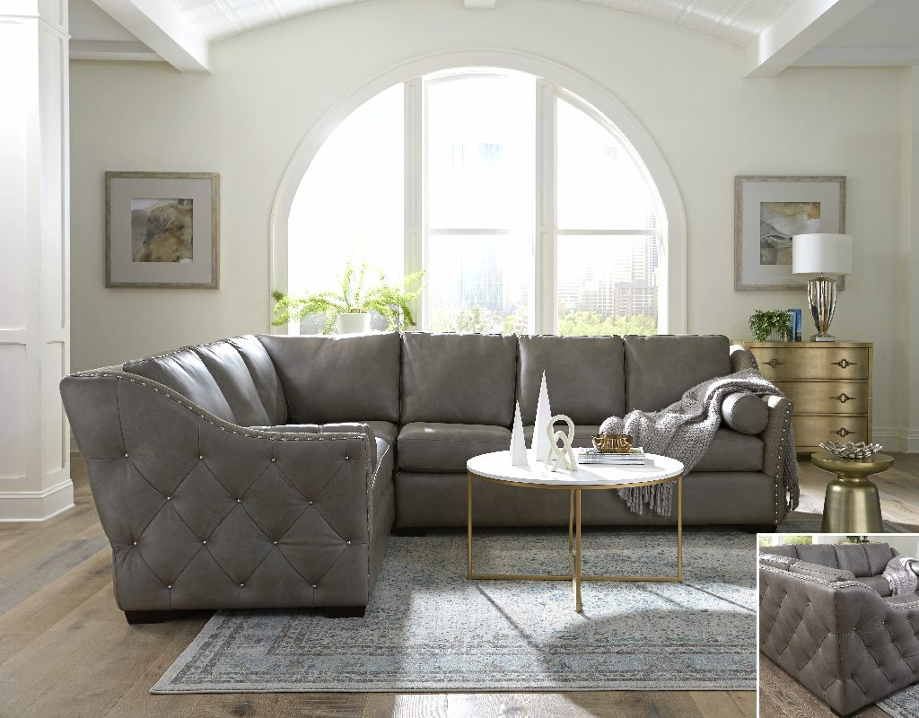 Brisbane Sectional by Omnia Leather