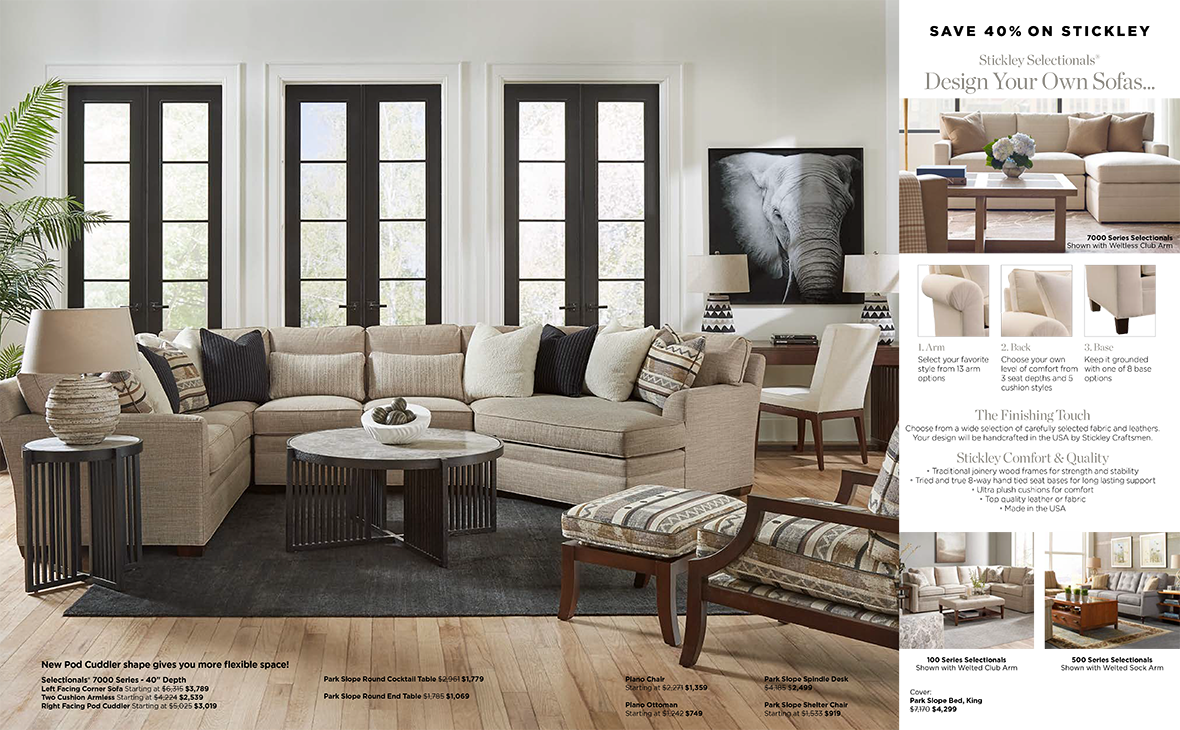 Stickley Design Your Own Sofas