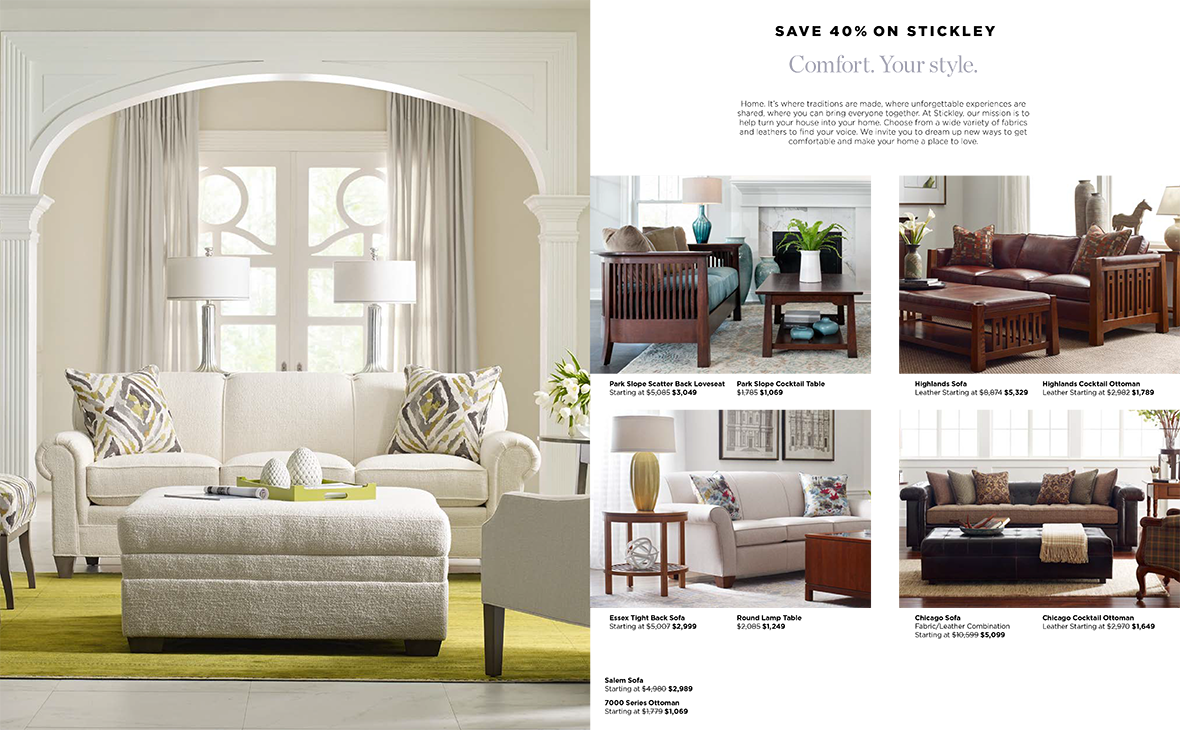 Comfort. Your Style. By Stickley