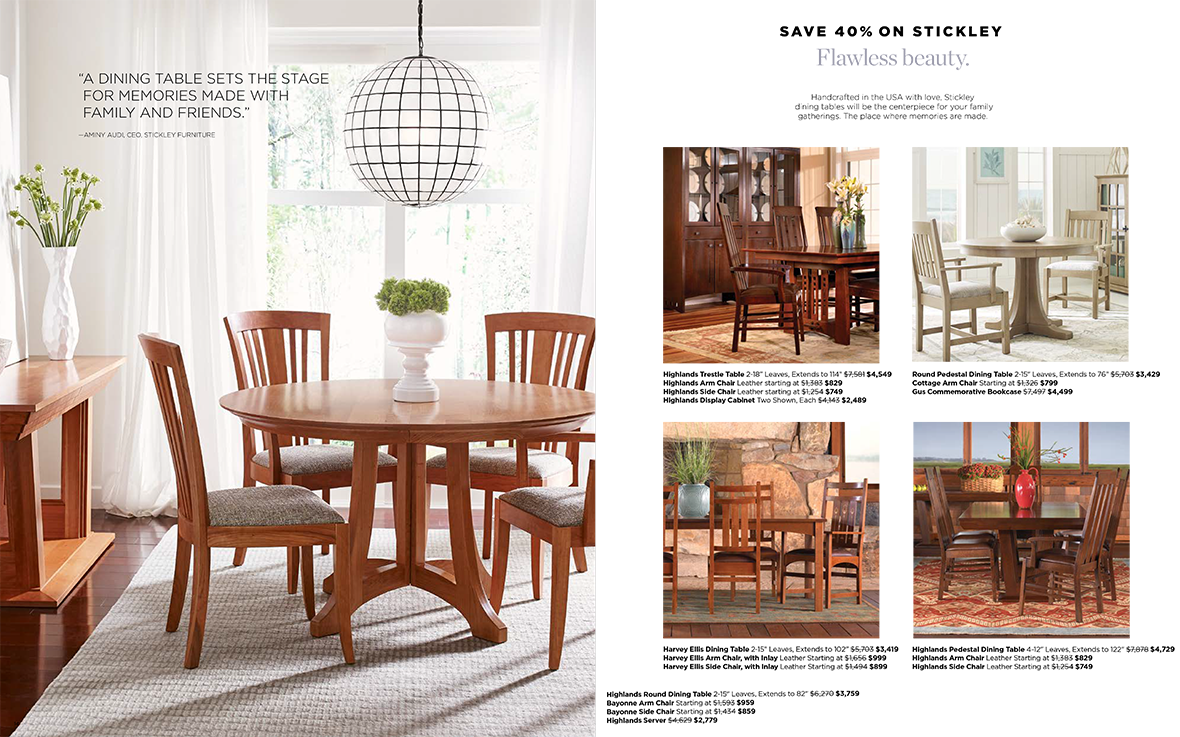 Save 40% on Stickley Dining Furniture