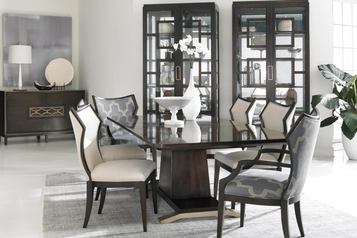 Dining Table, Chairs & Buffet by Hickory White