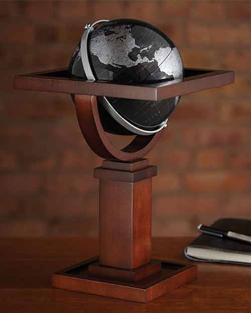 Mini Wright Black Desk Globe