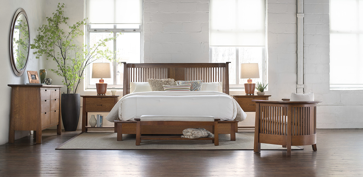 Stickley Park Slope Bed at Sedlak Interiors