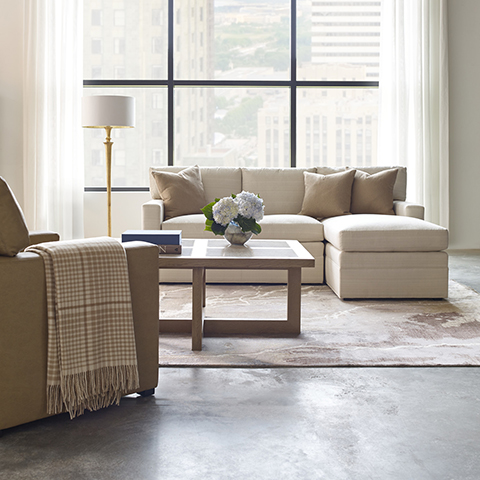 Stickley Sectional at Sedlak Interiors