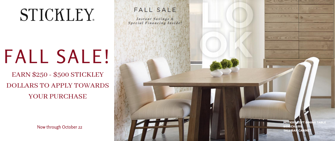 Delicieux Stickley Furniture Sale At Sedlak Interiors. Earn Stickley Dollars!
