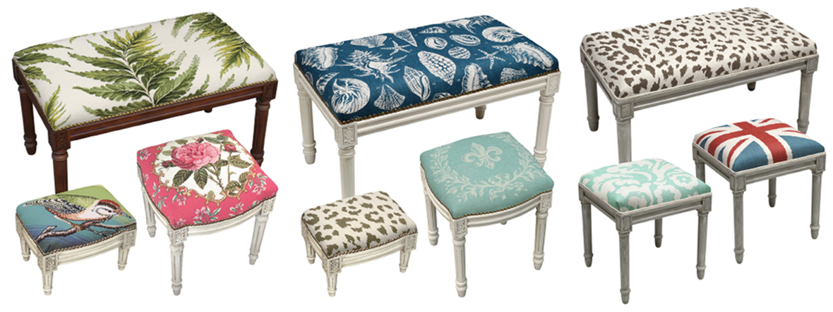 Upholstered Benches, Vanity & Footstools