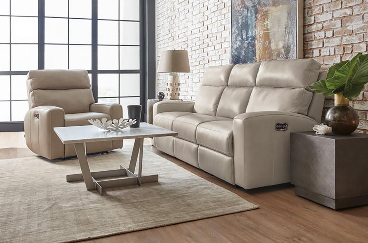 Hooker Furniture Living Room Mowry Power Recliner w/ Power Headrest