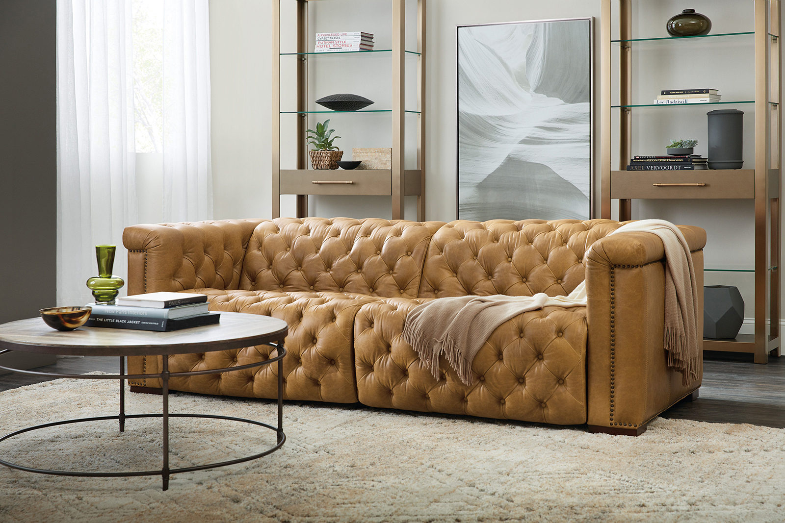 Hooker Savion Reclining Motion Leather Sofa