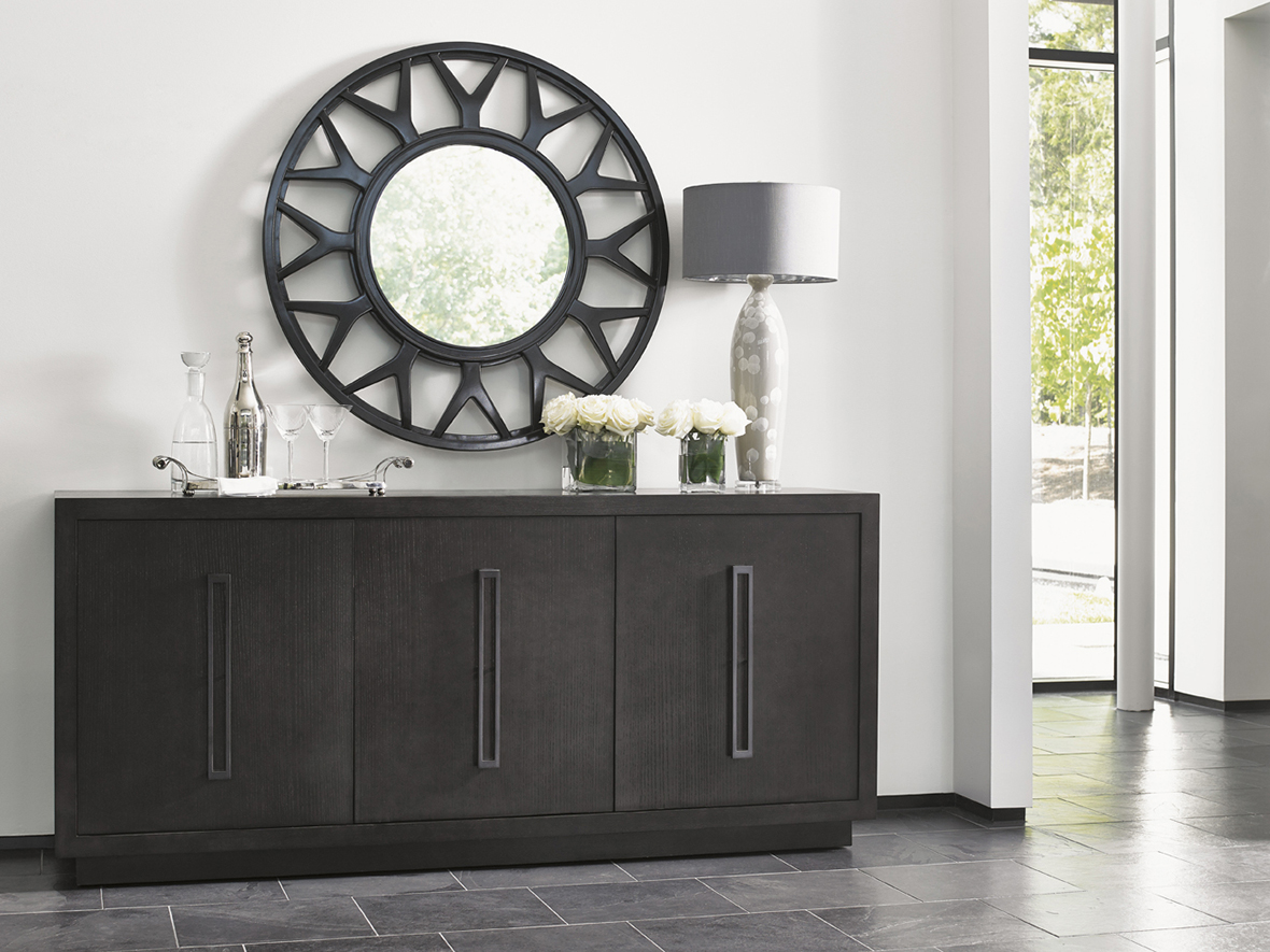 Lexington Console Table and Mirror at Sedlak Interiors