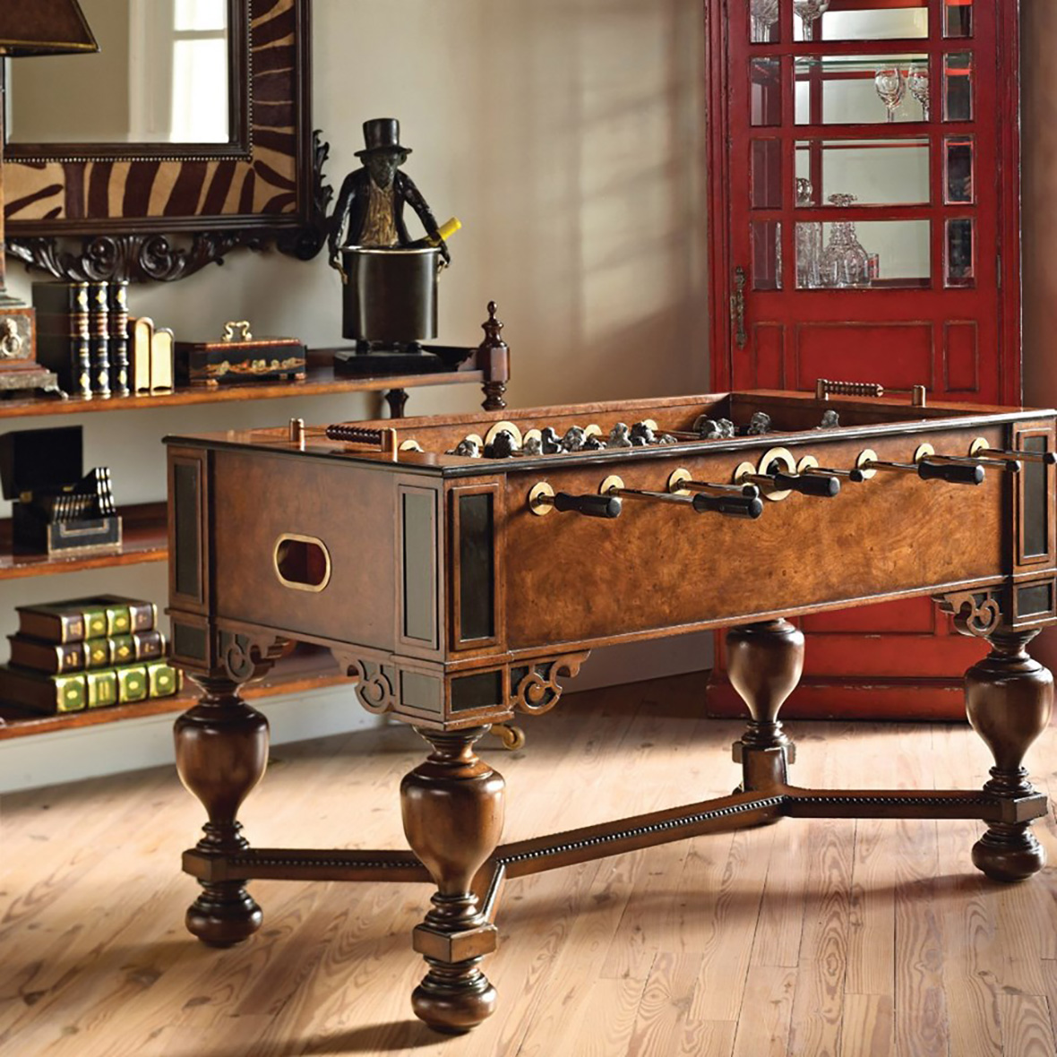Ashton Foosball Game Table & Monkey Wine Holder