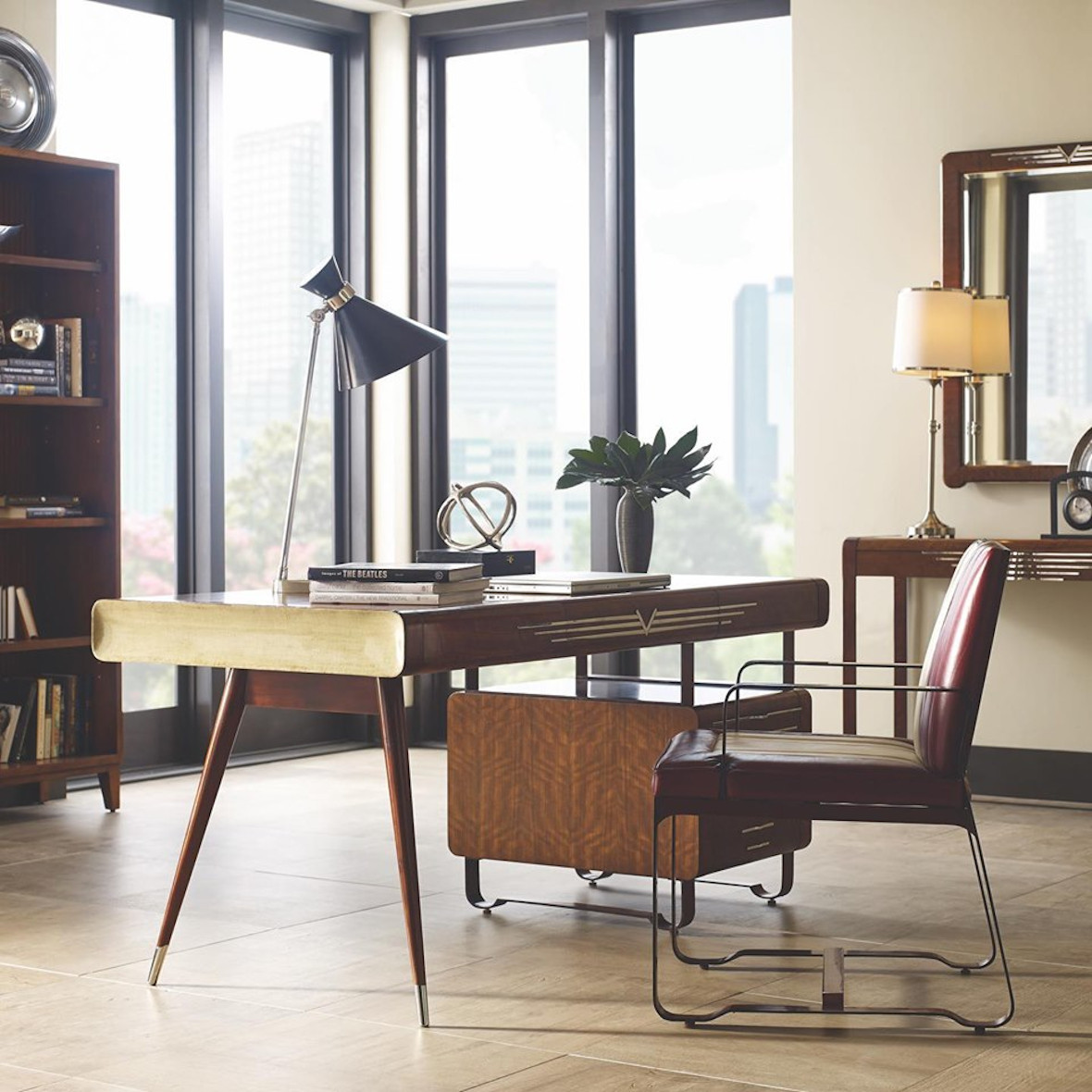 Jonathan Charles Home Office - Desk & Chair