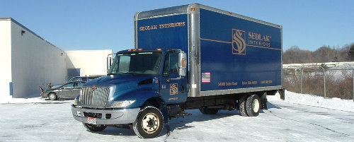 Sedlak Interiors delivers to you in our own fleet of trucks!