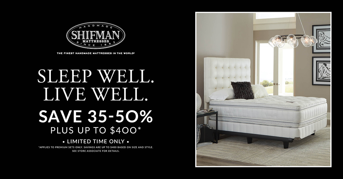 Shifman Mattress Fall Promotion - Save 35-50%