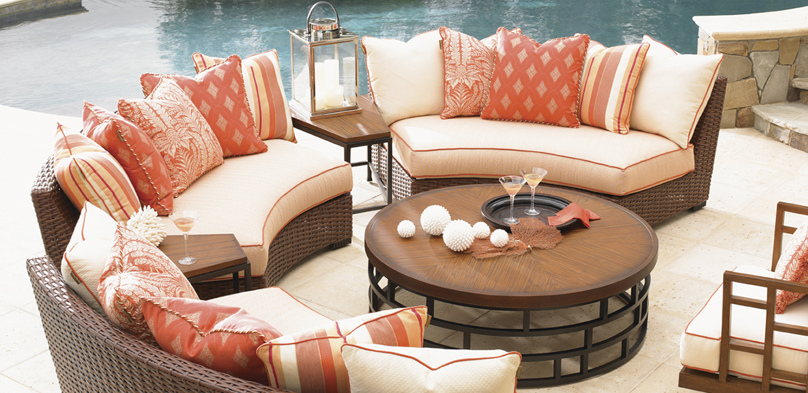 Tommy Bahama Round Outdoor Sectional